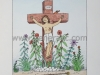 Josip Generalic JG-N02-01 Isus na križu Jesus on the cross water-coloured serigraphy 35x25 cm 24x18 cm 1991 170,00 EUR