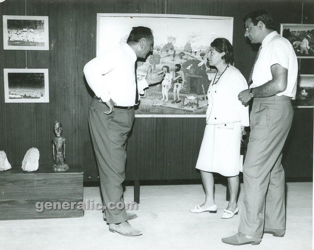 _670000 Ivan Generalic and Josip with marquise from Paris, Opatija 1967