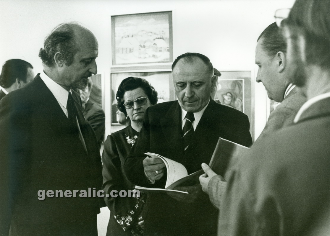 _730516 Ivan Generalic and Anka with our ambassador, Wien 1973 3