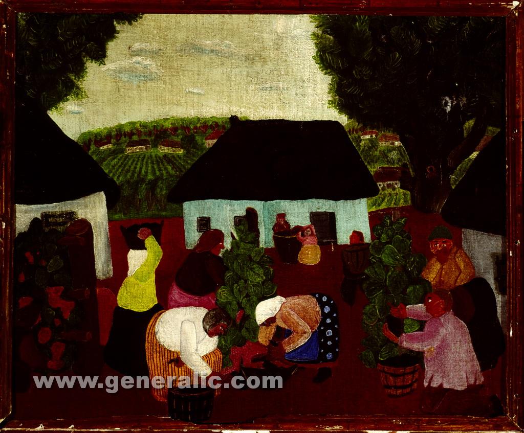 Ivan Generalic, 1934, Vintage, oil on canvas, 44x52 cm