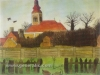 Ivan Generalic, 1931, Church in Hlebine, watercolour
