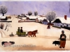 Ivan Generalic, 1931, Winter in Hlebine, watercolour, 43x60 cm