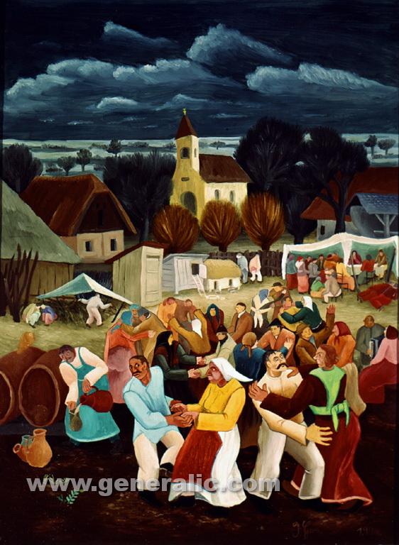 Ivan Generalic, 1940, Village dance, oil on canvas, 90x67 cm