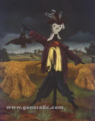 Ivan Generalic, 1954, Scarecrow, oil on glass, 53x44 cm 2