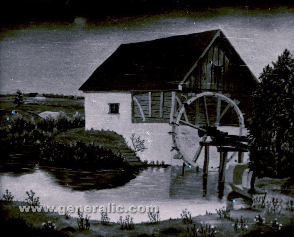 Josip Generalic, 1956, A mill, oil on canvas