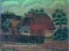 Josip Generalic, 1951, Village house, oil on canvas