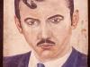 Josip Generalic, 1954, Self portrait, oil on wood