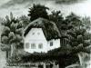 Josip Generalic, 1954, Small house, oil on canvas
