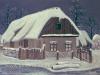 Josip Generalic, 1954, Village house, oil on wood