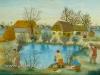 Josip Generalic, 1956, Works around a pond, waterolour