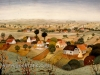 Josip Generalic, 1959, Landscape with houses, oil on canvas