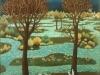 Ivan Generalic, 1960, Three doves, oil on glass