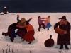 Ivan Generalic, 1960, Winter joy, oil on canvas