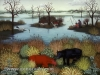 Ivan Generalic, 1964, River Landscape, oil on glass, 55x65 cm