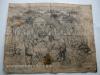 Ivan Generalic, 1965, A party, drawing, 63x78 cm