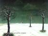 Ivan Generalic, 1965, Three trees, oil on glass