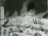 Ivan Generalic, 1966, Dead soldiers in snow, oil on glass