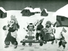 Ivan Generalic, 1966, Masquerade in winter, oil on glass
