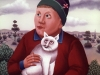 Ivan Generalic, 1967, Boy with a cat, oil on glass