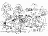 Ivan Generalic, 1967, Garden party, drawing