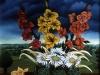 Ivan Generalic, 1968, Flowers on a table, oil on glass
