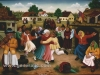 Ivan Generalic, 1968, Garden party, oil on glass, 80x100 cm