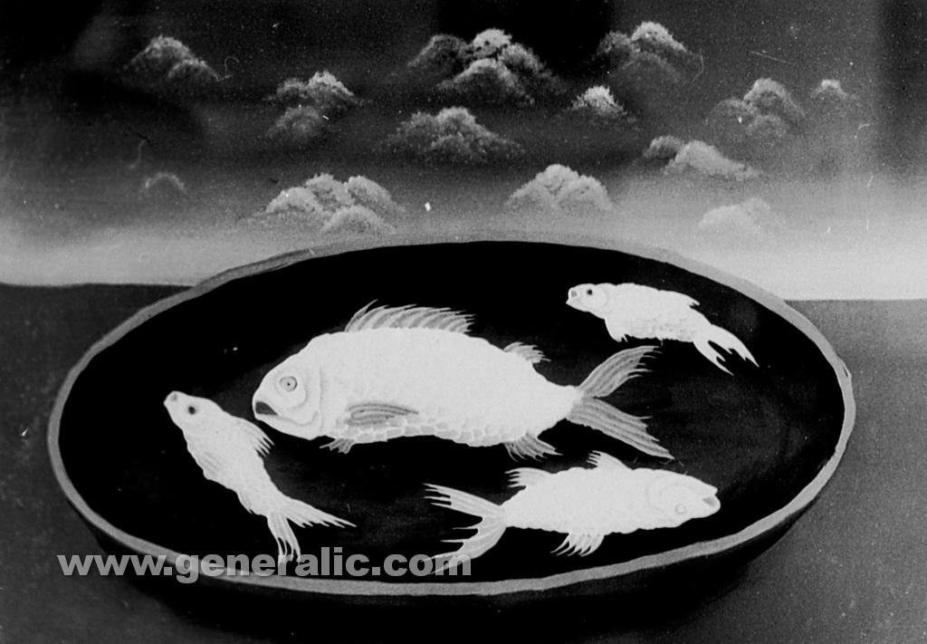Josip Generalic, 1961, Fish on a plate
