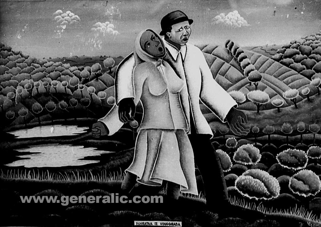 Josip Generalic, 1961, Return from vineyard