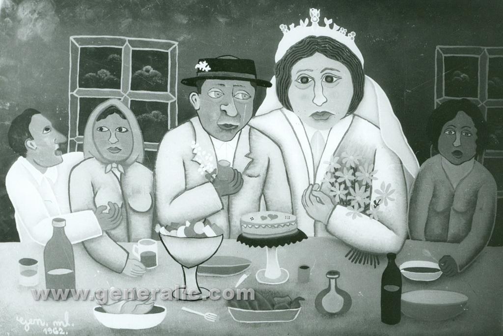 Josip Generalic, 1962, Wedding table, oil on glass