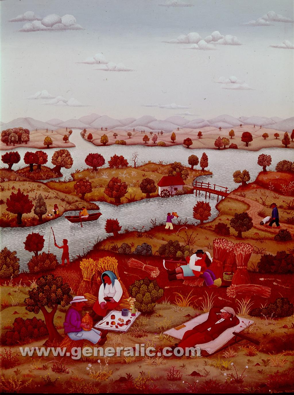 Josip Generalic, 1966, Landscape in summer, oil on canvas