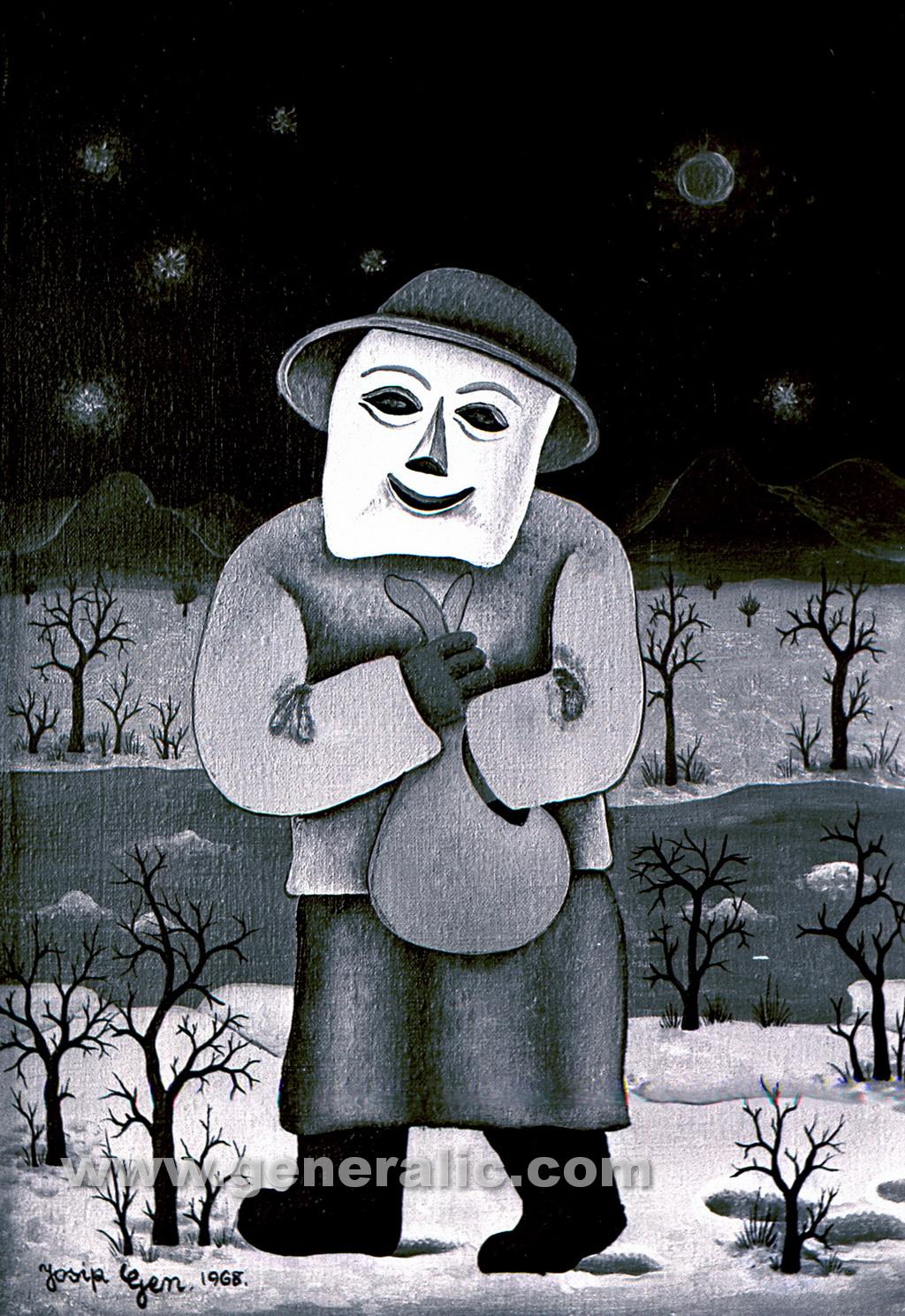 Josip Generalic, 1968, Masquerade, oil on canvas