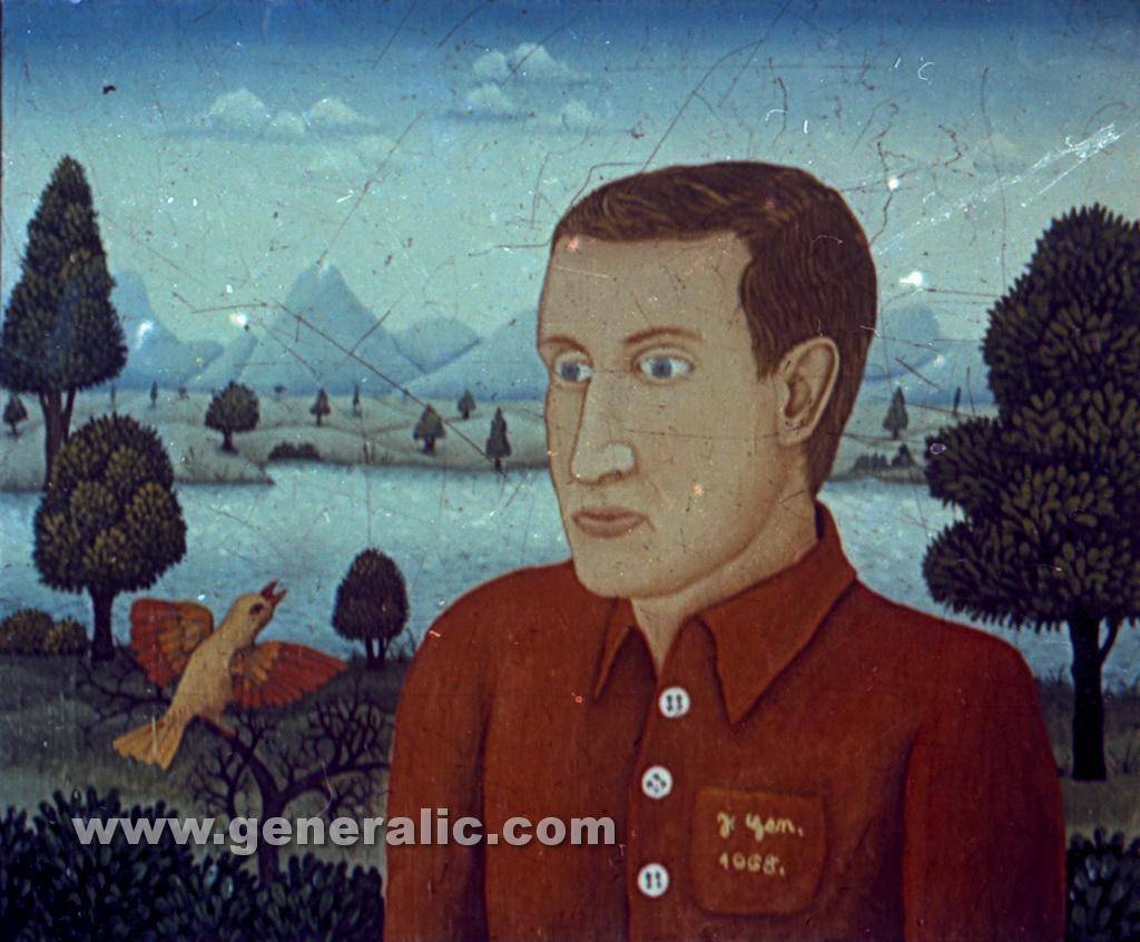 Josip Generalic, 1968, My friend, oil on canvas