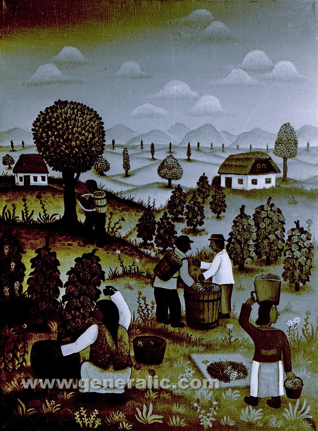Josip Generalic, 1968, Vintage, oil on canvas