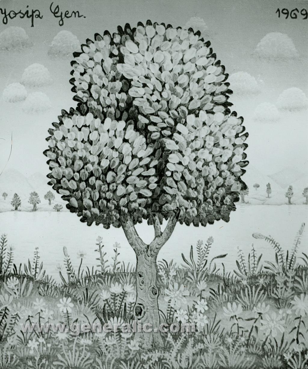 Josip Generalic, 1969, A tree, oil on canvas