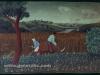 Josip Generalic, 1960, Mowing the hay, oil on wood