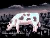 Josip Generalic, 1962, A cow, oil on glass
