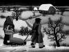 Josip Generalic, 1962, Bringing food home, oil on glass