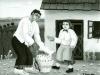Josip Generalic, 1963, Buying the fish, oil on glass