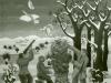 Josip Generalic, 1963, Hunters shooting on birds, oil on canvas