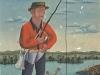 Josip Generalic, 1964, Fisherman in red shirt, oil on canvas