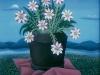Josip Generalic, 1964, Flowers on a pink blanket, oil on canvas