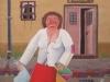 Josip Generalic, 1964, Leaving the pub, oil on canvas