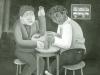 Josip Generalic, 1964, Two drunks, oil on glass