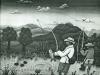 Josip Generalic, 1965, Fishermen in Podravina, oil on canvas