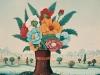 Josip Generalic, 1965, Flowers in a cracked vase, oil on canvas