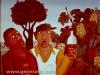 Josip Generalic, 1965, Happy lads in vineyard, oil on canvas