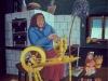 Josip Generalic, 1965, Making a thread, oil on glass