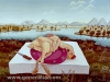 Josip Generalic, 1965, Plucked chicken on a table, oil on canvas