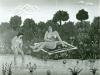 Josip Generalic, 1965, Swimming in a lake, oil on canvas