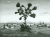 Josip Generalic, 1966, Big flower, oil on glass